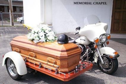 Forever Free Motorcycle Funeral Coach